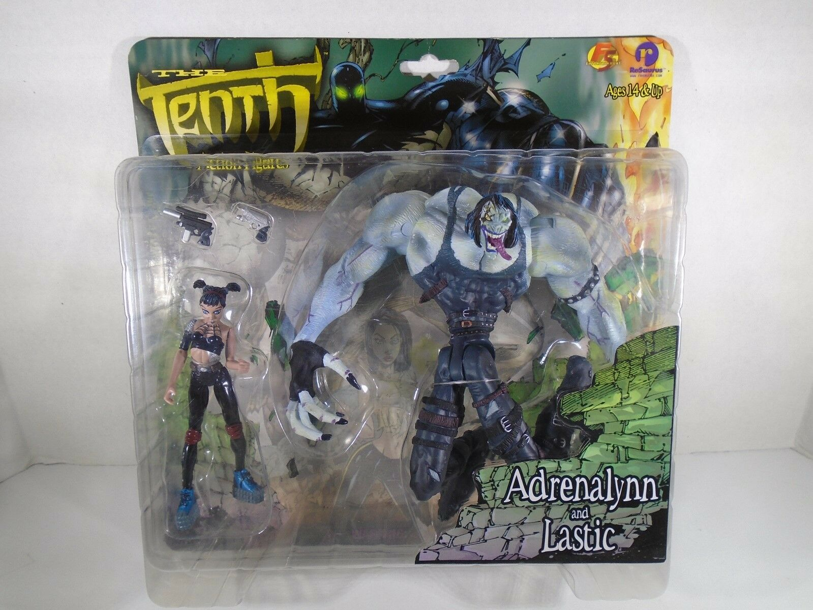 1999 RESAURUS--THE TENTH--ADRENALYNN AND LASTIC FIGURES (NEW)