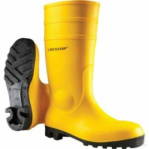 Genuine-Dunlop-Protomaster-Rubber-Boots-Yellow-142YP-Free-Postage