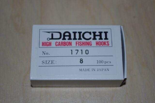 Daiichi - 1710 2X Long Nymph Hooks, 100 Pack  #8