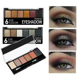 LEARNEVER6-Farbe-wasserdicht-Lidschatten-Lidschatten-Palette-Nett-Make-up-K-P7G4