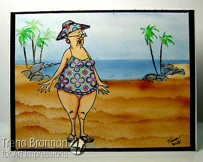 GLADYS (See photo #2 L@@Kexamples ART IMPRESSIONS RUBBER STAMPS