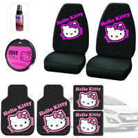 Design Hello Kitty Car Seat Covers Floor Mats Accessories Set For Hyundai