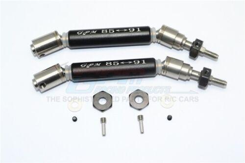 GPM stainl Steel 304+alu Front CVD Drive Shaft /& Steel Wheel Hex Traxxas ou