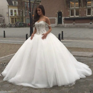 Details about Princess Plus Size Wedding Dress Ball Gown 2018 Luxury  crystal tulle Bridal Gown