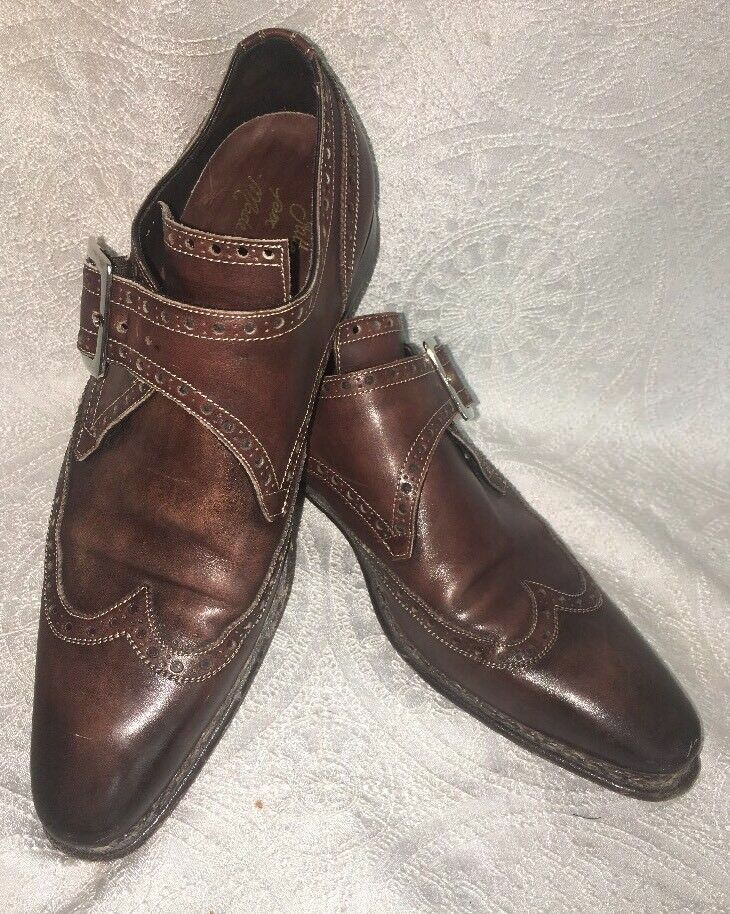 Certo Shoe Brown Pelle Top Buckle Strap Perforated Size 40 1/2 Us 8