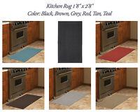 Kitchen Rug 1'8 X 2'8 Subtle Pattern Solid Pet Friendly Mat Soft Modern Carpet