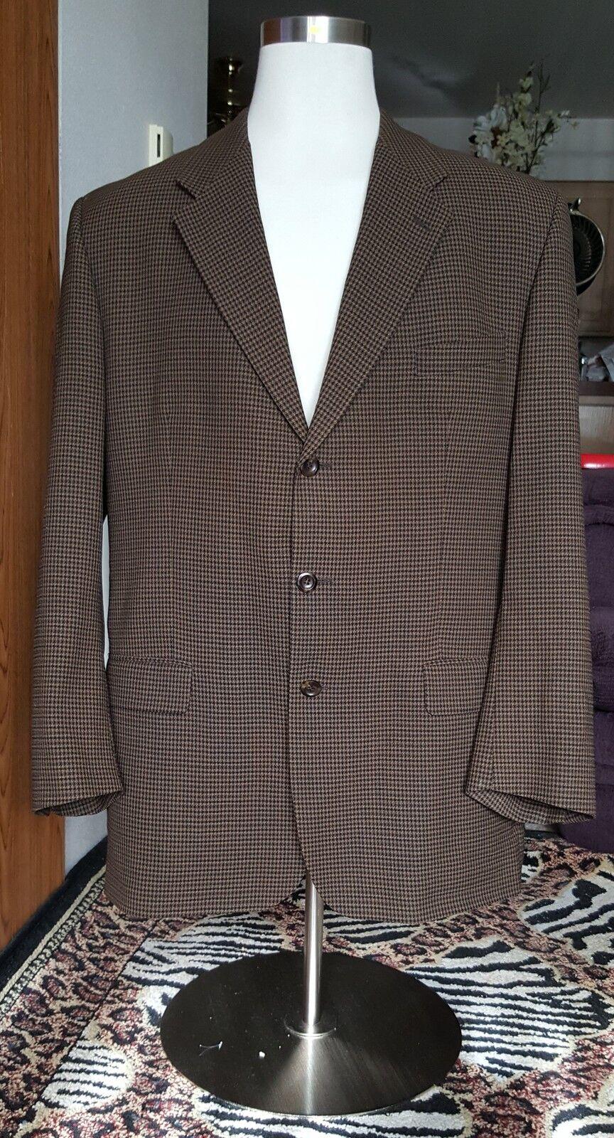 Männers Kasper Plaid Jacket Mantel Größe 46T
