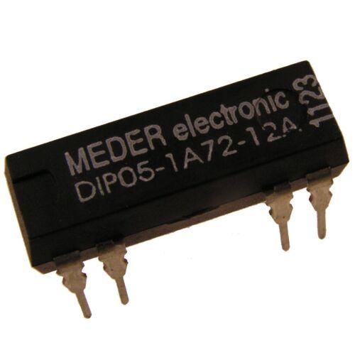 Meder dip05-1a72-12a Relais 5v 1xein 500 Ohm dip Reed Relay con diodo 047154