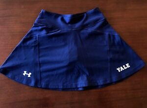 NWOT-Under-Armour-YALE-Womens-Tennis-Skirt-Size-XS-Navy-Blue-with-YALE-Logo