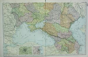 1912 LARGE ANTIQUE MAP RUSSIA SOUTH ENVIRONS OF ODESSA MOSCOW eBay