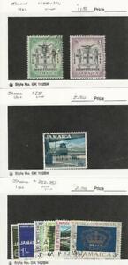 100% Vrai Jamaïque, Timbre, #195-6, 251, 252-57 Utilisé, 1962-66, Jfz-afficher Le Titre D'origine