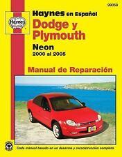Modelos Dodge y Plymouth Neon Haynes Manual de Reparacion por 2000 al 2005: No i