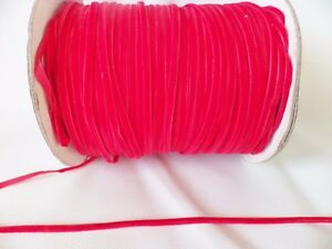 5m-x-4mm-Velvet-Ribbon-Bright-Red