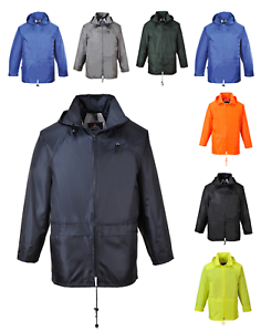 Classic Rain Jacket waterproof coat with hood Hooded Jacket XS-5XL Portwest S440