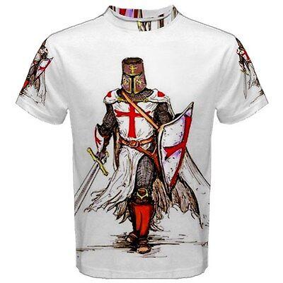 Medieval Knights Templar Sublimated Sublimation Men's T-Shirt S,M,L,XL,2XL,3XL