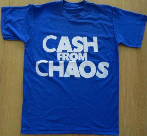 Seditionaries CASH FROM CHAOS Shirt Pistols McLaren Punk Manifesto all sizes