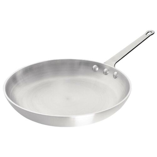 Vogue Frying Pan Made of Aluminium and Brushed Satin Finish 280mm