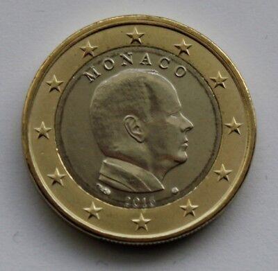 MONACO uncirculated 1 € Euro circulation coin 2016  Albert