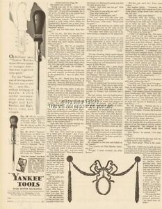 1929 North Brothers Yankee Tool Ratchet Screw Drivers No 10 11 15 Vintage Ad