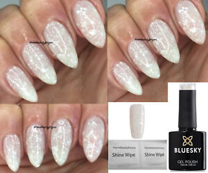 Bluesky White Diamond Multi Whitesilver Glitter Nail Gel Polish