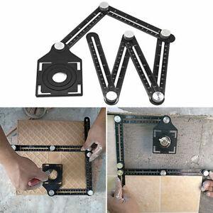 """12 /"""" 6 Multi-Winkel Kunststoff Aluminiumlegierung Messwerkzeuge Vorlage Lineal"""