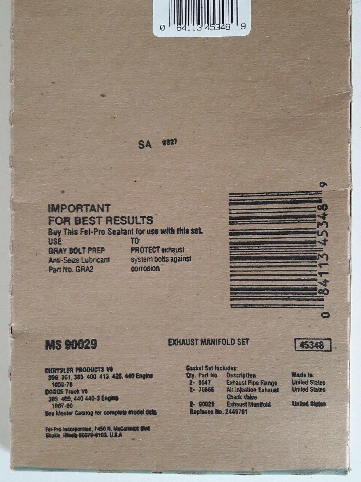 Exhaust Pipe Flange Gasket Fel-Pro 9547