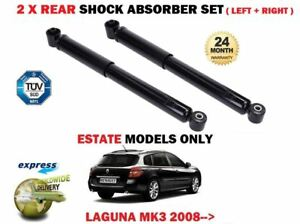 FOR-RENAULT-LAGUNA-ESTATE-MK3-2008-gt-NEW-2-X-REAR-SHOCK-ABSORBER-SHOCKER-SET