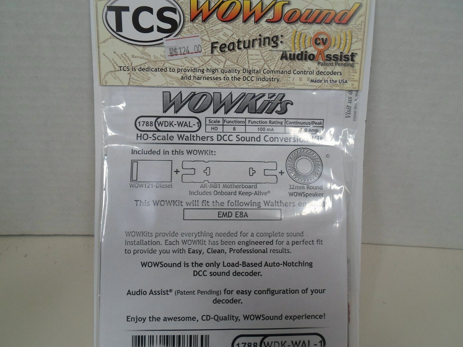 TCS WOW Sound Kit for Walthers E8