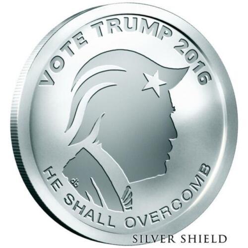 Silver Shield 1oz Vote Trump 2016 .999 Fine Silver Round  ** Donald Trump**