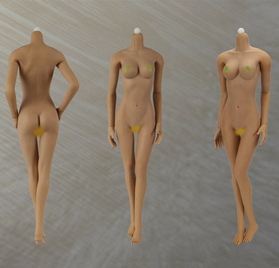 1 6 JOQ-06C-BS Super Flexible Seamless Stainless Wheat Body For 12'' Figure Toy