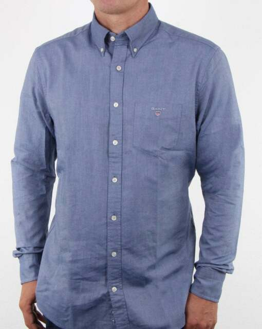 bd7f89fc3a GANT The Oxford Shirt in Persian Blue Xx-large for sale online | eBay
