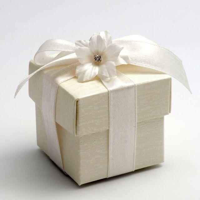 Luxury DIY Wedding Party Favour Gift Sweet Boxes - Ardesia Ivory Range