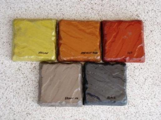 MIXED COLOR FOR CEMENT, CONCRETE, 5 LBS. (1 LB EA OF 5 COLORS) MAKES STONE TILES