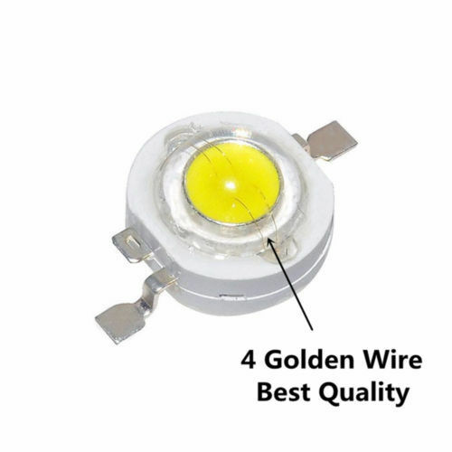 1000pcs 3W High Power LED Chip Warm White Red Green Blue Yellow For Lamp Bulb