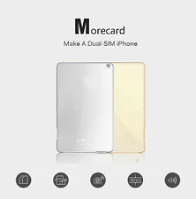 Bluetooth 4.0 Dual Sim Card Adapter for iPhone 6S Plus SE iPad Mini Air Morecard