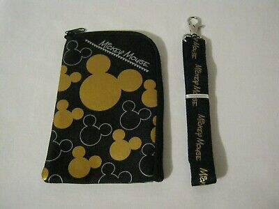 Mickey Set of 3 Lanyard Fastpass ID Ticket Holders with Detachable Coin Purse