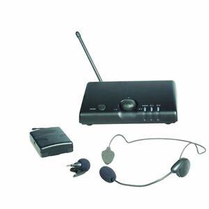 Prosound-A70UR-Headset-amp-Tie-Clip-Vhf-Kabellos-Mikrofon-Set-Inkl-Garantie