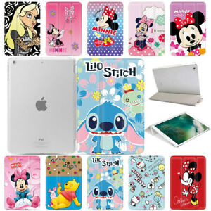 Disney-Smart-Magnetic-PU-Leather-Cover-Case-Back-For-Apple-iPad-234-mini-Air-Pro