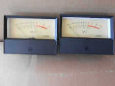 VU --- TWIN  MATCHING ILLUMINATED VU  METERS - 82MM WIDE x 63MM HIGH x 36MM DE