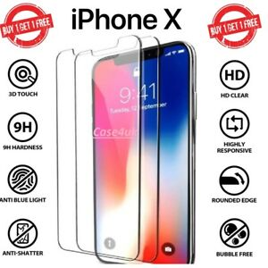 Screen-Protector-For-Apple-iPhone-X-Tempered-Glass-100-Genuine