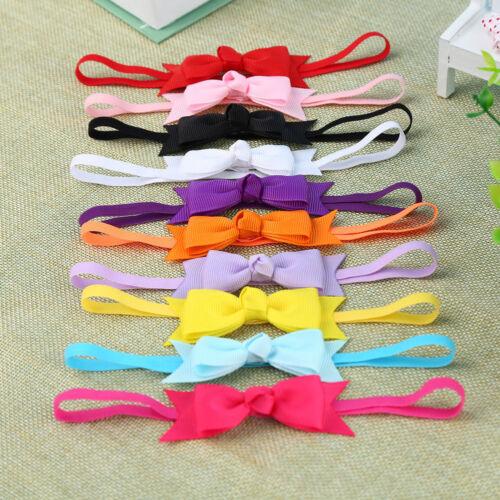 10pcs Newborn Baby Girl Infant Toddler Headband Bow Ribbon HairBand Accessory GL