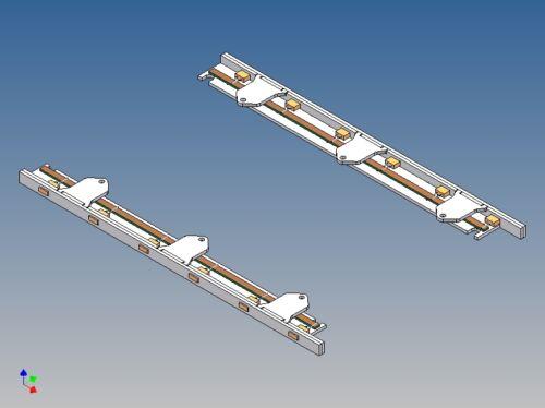 LLA2V LED-Leistenpaar für Vollprofilstaukiste zu TAMIYA Actros 2-Achser M1:14