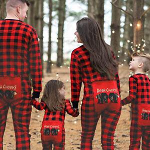 neu kommen an Räumungspreise noch nicht vulgär Details zu Familie Partnerlook Weihnachten Overall Jumpsuit Nachtwäsche  Schlafanzug Pyjamas