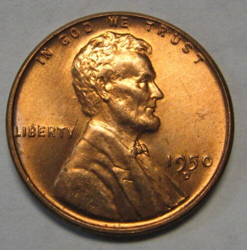 1950-D Lincoln Wheat Cent in the GEM BU Range DUTCH AUCTION