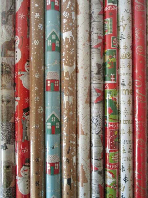 0,32€//m 20 Rollen Geschenkpapier Weihnachten Weihnachtsgeschenkpapier 0,7x10m