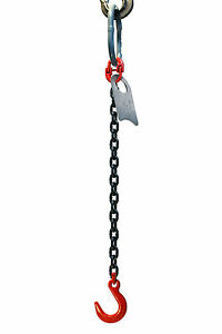 5-16-5-Foot-Grade-80-SOF-Single-Leg-Lifting-Chain-Sling-Oblong-Foundry-Hook