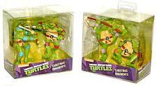 Kurt Adler Teenage Mutant Ninja Turtles Leonardo Raph Don Mike Ornament Sets!
