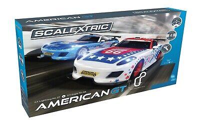 Scalextric C1361T American GT Set GT Lightning #27 vs GT Eagle #66:1//32 Slot Car
