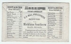 RARE-RR-Cover-c-1850-Michigan-Southern-Railroad-Great-American-US-Mail-amp-Express