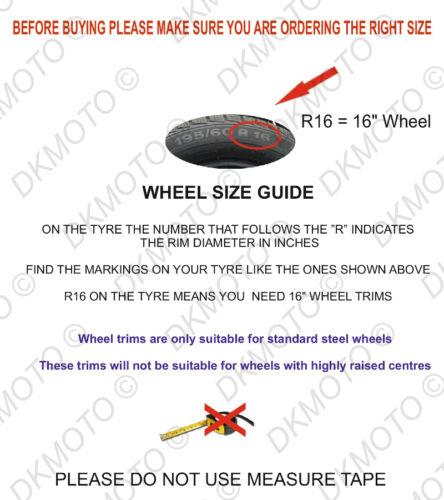 """Adornos de 16/"""" ruedas cubre para Renault Trafic 4x16/"""" Negro//Rojo"""